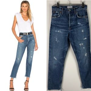 Agolde Revolve High Rise Jamie Jeans Distressed